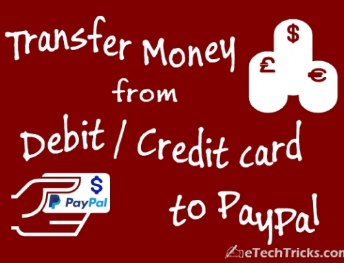 How to Transfer Money from Bank / Credit card to PayPal